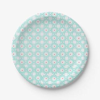 Blue Daisy Paper Plates