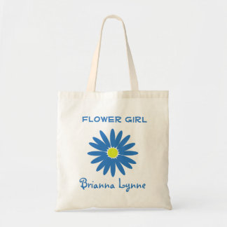 Blue Daisy Budget Tote Bag