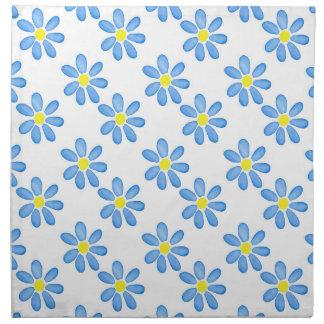 Blue Daisy Watercolor Pattern 2 Napkin