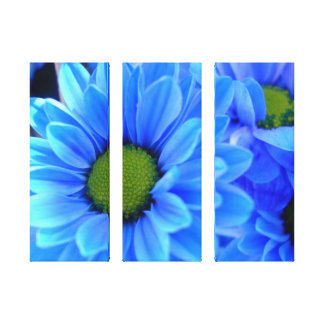 Blue Daisy Wrapped Canvas Gallery Wrap Canvas