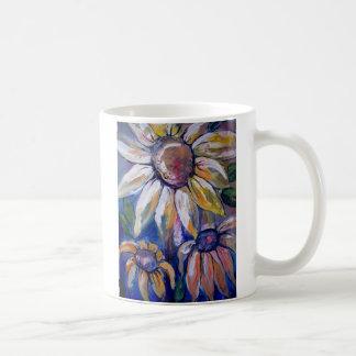 Blue Daisy's Basic White Mug