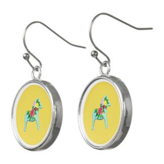 blue dala earrings