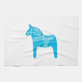 Blue Dala Horse Towels