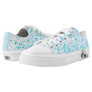 Blue Dalmatian Low Tops Printed Shoes