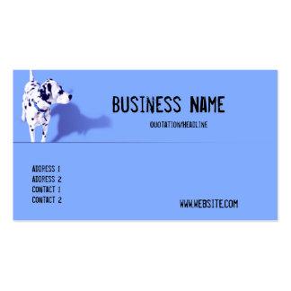 Blue Dalmation Dog Business Card