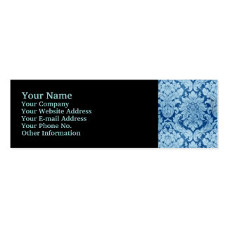 BLUE DAMASK Double-Sided MINI BUSINESS CARDS (Pack OF 20)