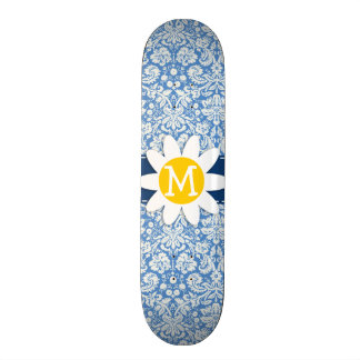 Blue Damask; Daisy Skate Decks