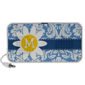 Blue Damask; Daisy Mp3 Speakers