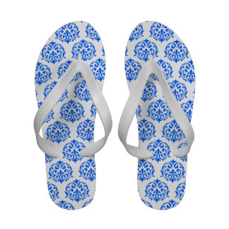 Blue Damask Flip-Flops