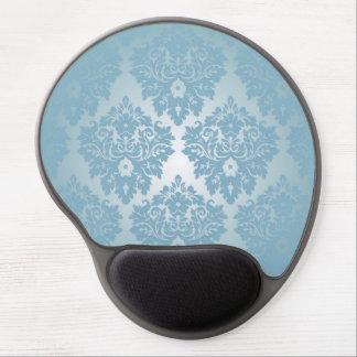 Blue Damask Gel Mouse Pad