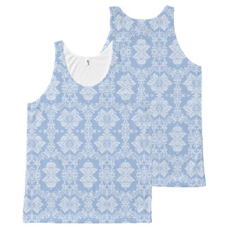 Blue Damask All-Over Print Tank Top