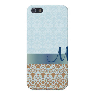 Blue Damask Monogram iPhone Speck Case iPhone 5/5S Cover
