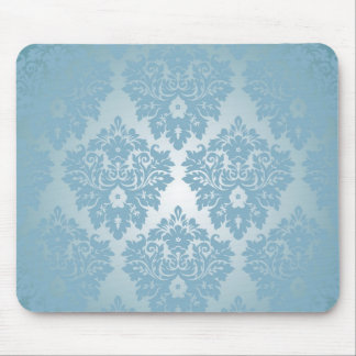 Blue Damask Mouse Pad
