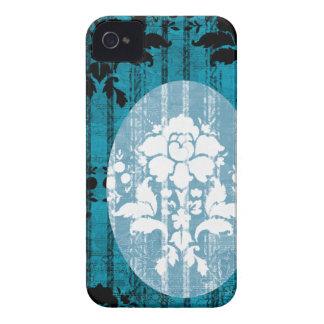 Blue Damask Pattern BlackBerry Barely There Case Blackberry Bold Case