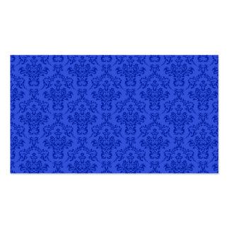 Blue Damask Pattern Pack Of Standard Business Cards