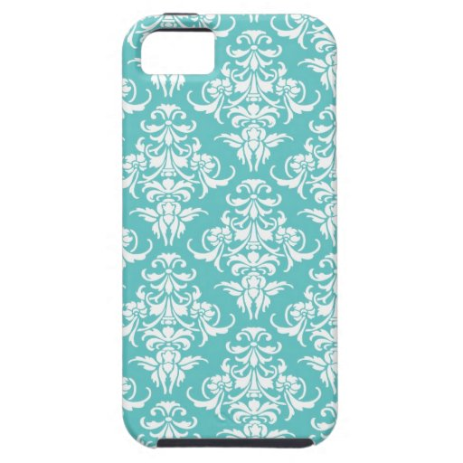 Blue damask pattern vintage girly chic chandelier iPhone 5 cover
