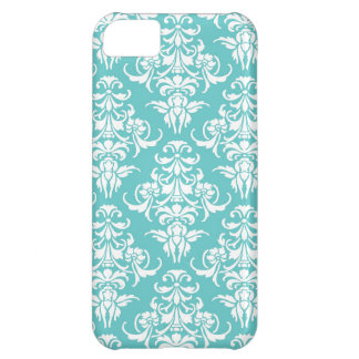 Blue damask pattern vintage girly chic chandelier iPhone 5C case