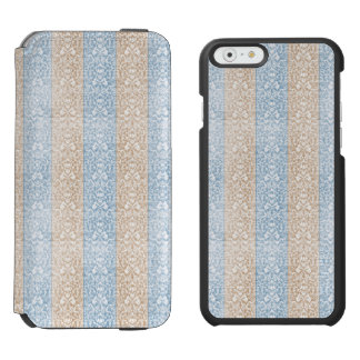 Blue Damask Ribbon Candy Stripes Kawaii Lines Incipio Watson™ iPhone 6 Wallet Case