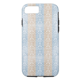 Blue Damask Ribbon Candy Stripes Kawaii Lines iPhone 8/7 Case