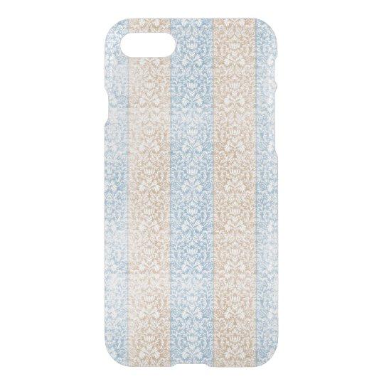 Blue Damask Ribbon Candy Stripes Kawaii Lines iPhone 8/7 Case