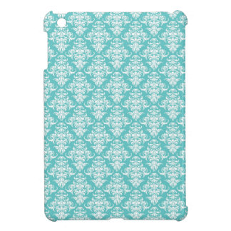 Blue damask vintage wallpaper pattern cover for the iPad mini