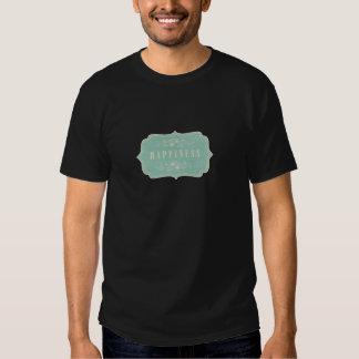 Blue Damasks Happiness Label Soft Shirts