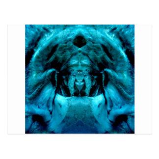 blue dämon postcard