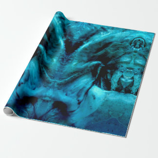 blue damon wrapping paper