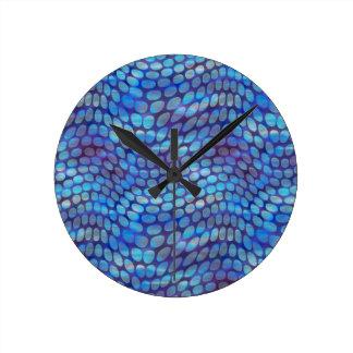 Blue Dance Floor Round Clock
