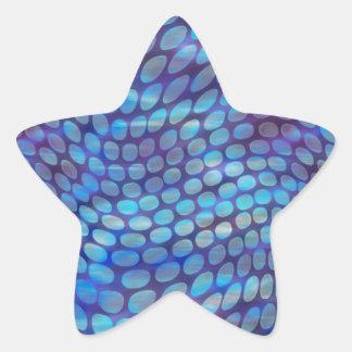 Blue Dance Floor Star Sticker