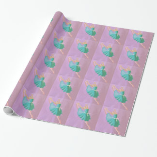 Blue Dance Leap Wrapping Paper