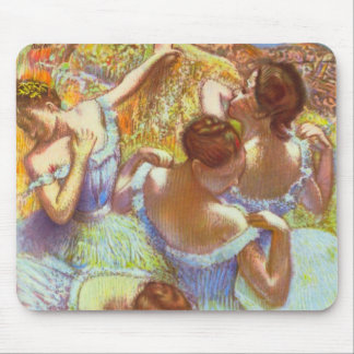 Blue Dancers by Edgar Degas Mousepad