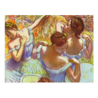 Blue Dancers by Edgar Degas Postcard