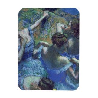 Blue Dancers, c.1899 (pastel) Rectangular Magnets