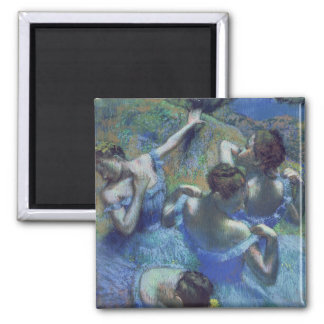 Blue Dancers, c.1899 (pastel) Square Magnet
