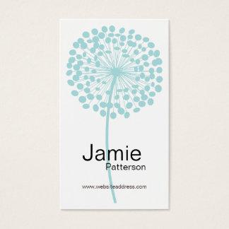 Blue Dandelion Flower Vertical Business Cards