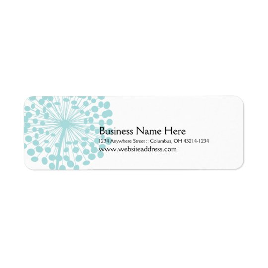 Blue Dandelion Return Address Labels (TBA)