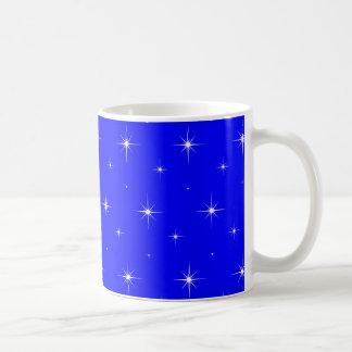 Blue-Dark-And-Bright-Stars-Elegant-Pattern Coffee Mug