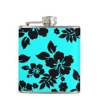 Blue Dark Hawaiian Hip Flask