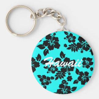 Blue Dark Hawaiian Key Ring