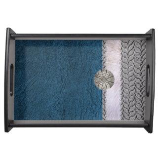 Blue Darling server Serving Platters