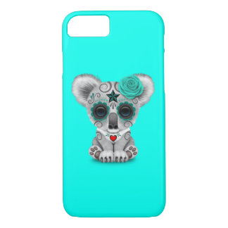 Blue Day of the Dead Baby Koala iPhone 8/7 Case
