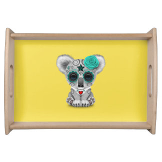 Blue Day of the Dead Baby Koala Serving Tray