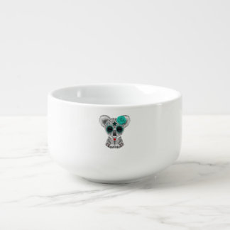 Blue Day of the Dead Baby Koala Soup Mug