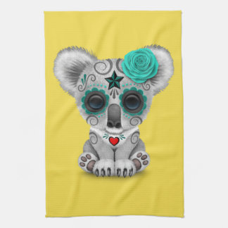 Blue Day of the Dead Baby Koala Tea Towel
