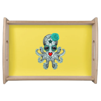 Blue Day of the Dead Baby Octopus Serving Tray