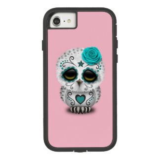 Blue Day of the Dead Baby Owl Case-Mate Tough Extreme iPhone 8/7 Case