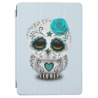 Blue Day of the Dead Baby Owl iPad Air Cover