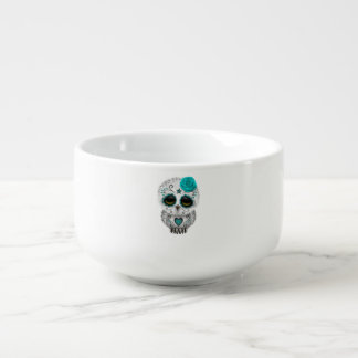 Blue Day of the Dead Baby Owl Soup Mug