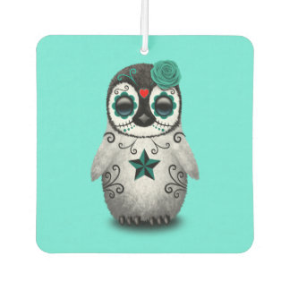 Blue Day of the Dead Baby Penguin Car Air Freshener
